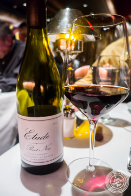 Pinot Noir Etude at Mastro's Steakhouse in NYC, New York