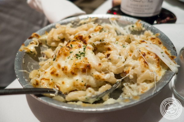 Gorgonzola mac and cheese at Mastro's Steakhouse in NYC, New York