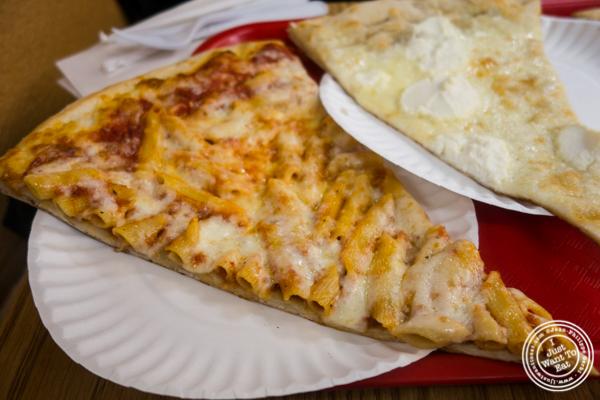 Baked ziti slice at H & S Giovanni's in Hoboken, NJ