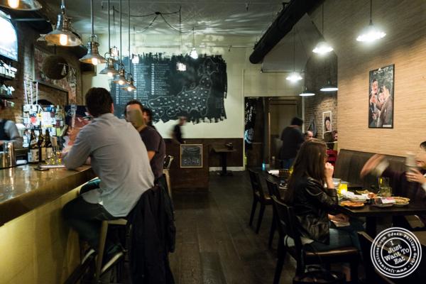 Dining room at Sake Bar Shigure in Tribeca, NYC, New York
