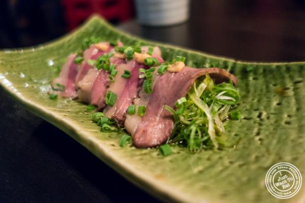 Duck Cha-Shu at Sake Bar Shigure in Tribeca, NYC, New York