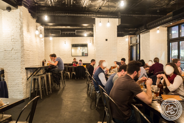 Dining room at Mighty Quinn's BBQ in NYC, New York