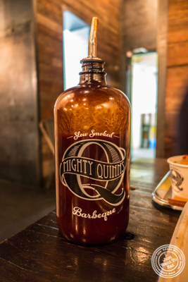BBQ sauce at Mighty Quinn's BBQ in NYC, New York