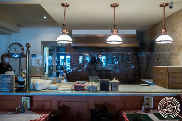 Coal brick-oven at Grimaldi's Pizza in Hoboken, NJ
