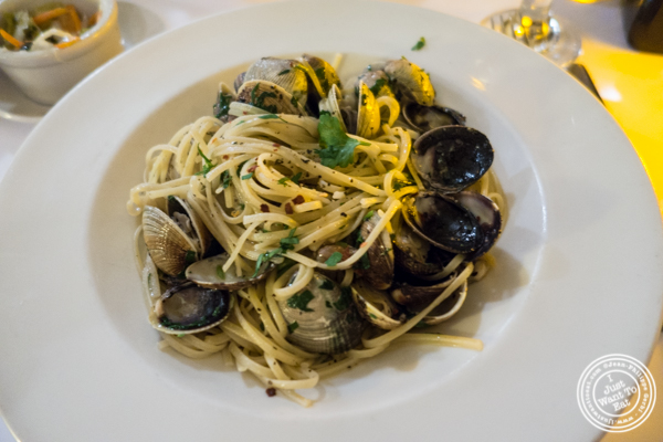 Linguine alle Vongole at Gigino Trattoria in TriBeCa