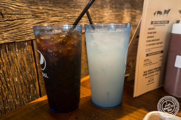 Root beer and lemonade at House of Que in Hoboken, NJ