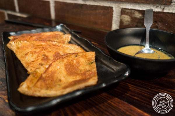Scallion pancakes at NIU Noodle House in the West Village