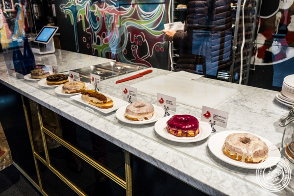 Display at The Doughnut Project in NYC, New York