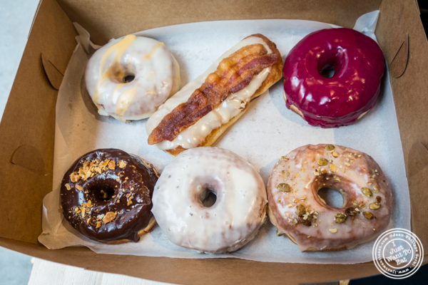 A box of doughnuts at The Doughnut Project in NYC, New York