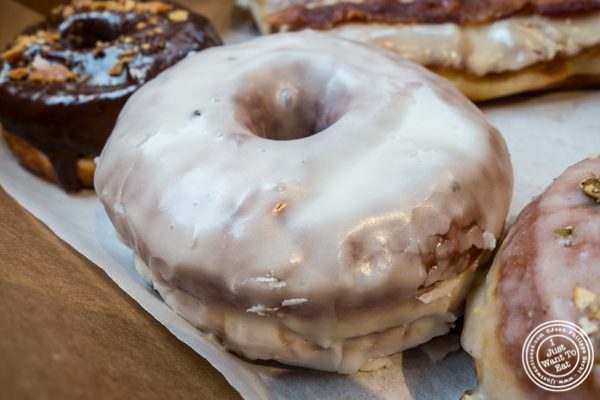 The Bronx: Olive oil and black pepper at The Doughnut Project in NYC, New York