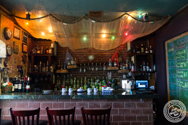 Bar at Off The Hook, Raw Bar and Grill in Astoria, Queens