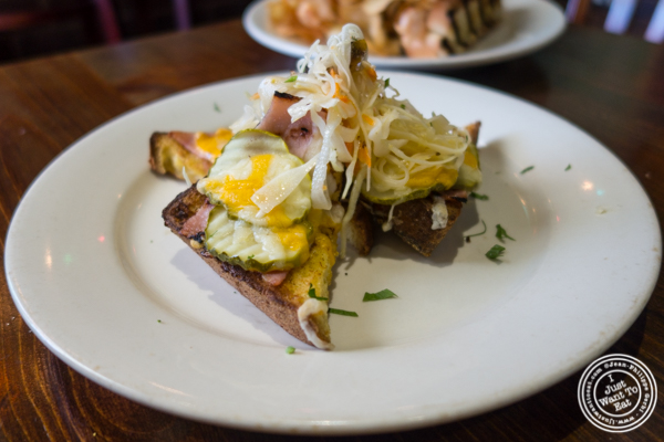 Croque Monsieur at Off The Hook, Raw Bar and Grill in Astoria, Queens