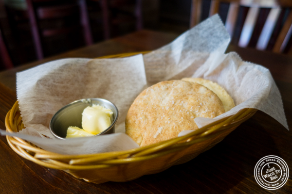 Biscuit at Off The Hook, Raw Bar and Grill in Astoria, Queens