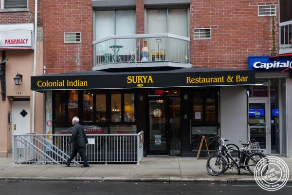 Surya, Indian restaurant on Bleecker, NYC, New York