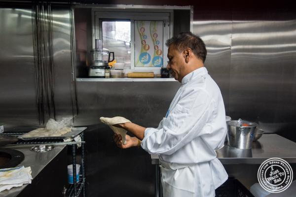 Chef Lala Sharma at Surya, Indian restaurant on Bleecker, NYC, New York