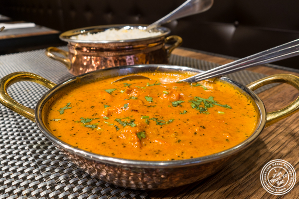 Chicken Tikka Masala at Surya, Indian restaurant on Bleecker, NYC, New York