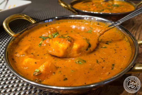 Paneer Makhni at Surya, Indian restaurant on Bleecker, NYC, New York