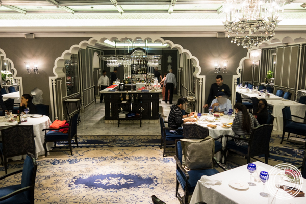 Dining room at Dum Pukht at The ITC Maurya Hotel in Delhi, India