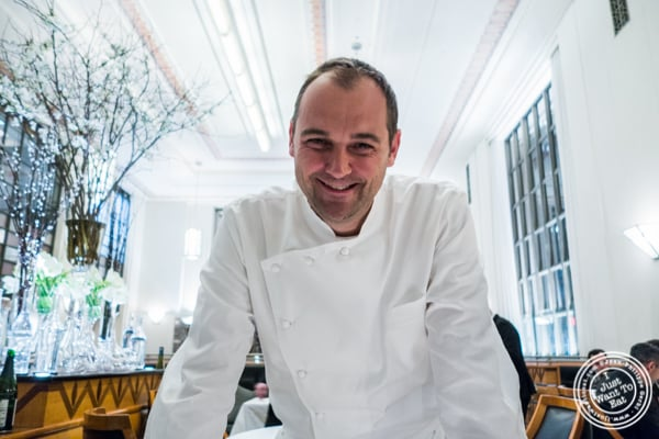 Chef Daniel Humm at Eleven Madison Park in NYC, New York