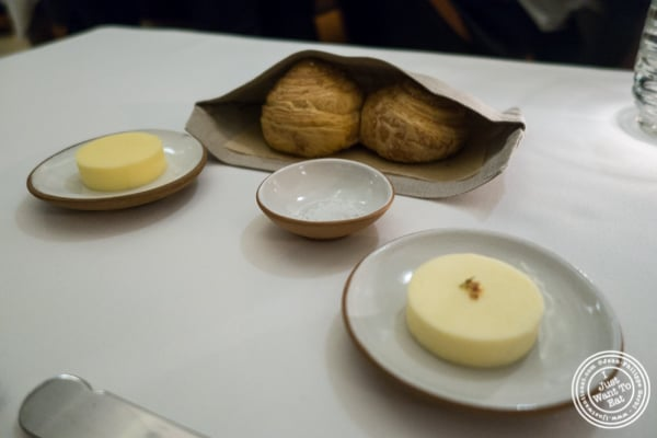 Bread and butter at Eleven Madison Park in NYC, New York
