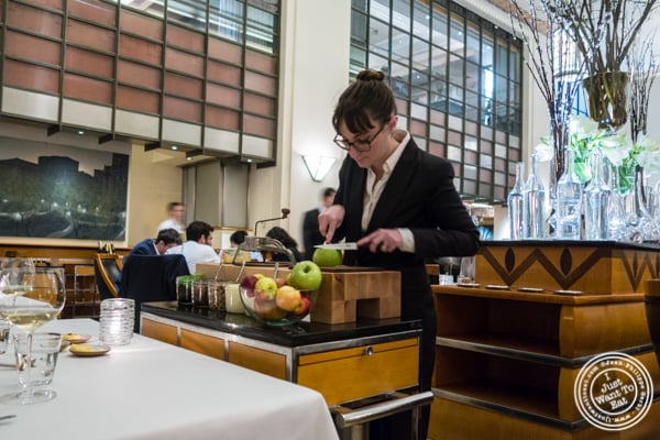 Waldorf salad cart at Eleven Madison Park in NYC, New York
