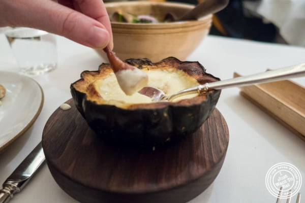Cheese fondue at Eleven Madison Park in NYC, New York
