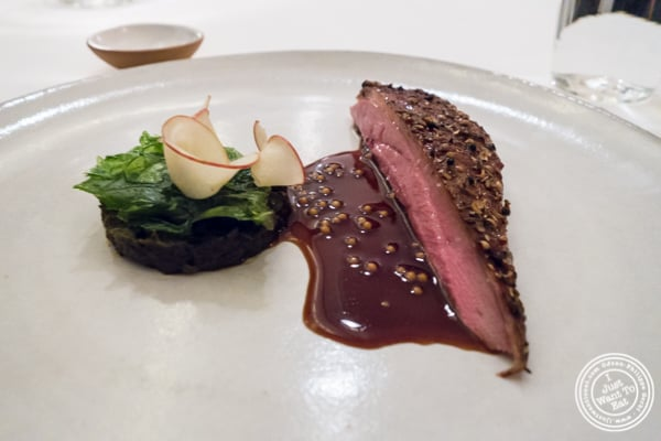 Roasted duck at Eleven Madison Park in NYC, New York