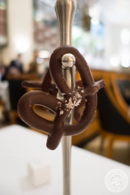 Chocolate pretzels at Eleven Madison Park in NYC, New York