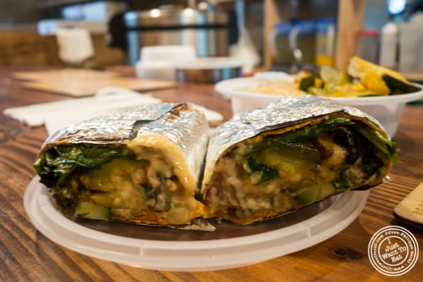 Vegetable wrap at M Terranean at The Gansevoort Market in the Meat Packing District