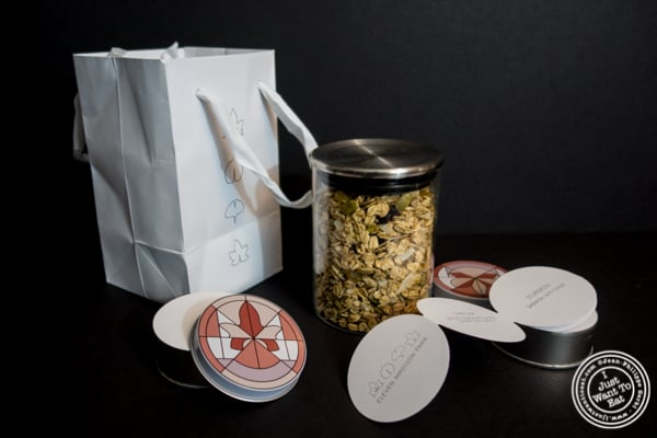 Bag of goodies at Eleven Madison Park in NYC, New York