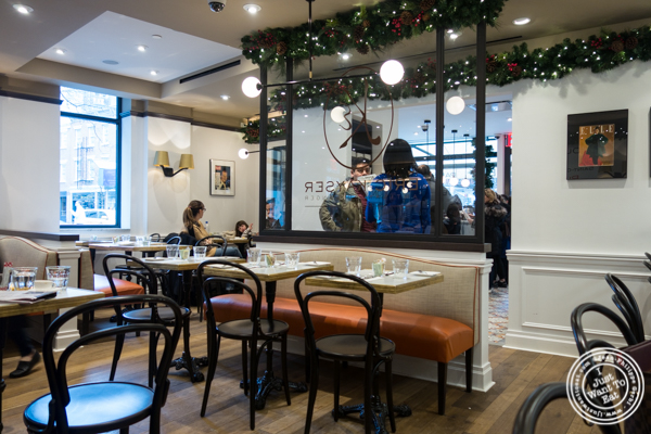 Dining room at Maison Kayser in the West Village, NYC, New York