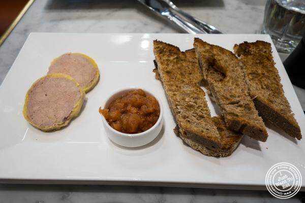 Foie gras au torchon at Maison Kayser in the West Village, NYC, New York