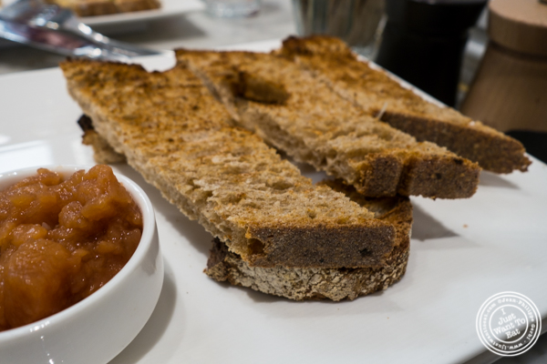 Bread for foie gras at Maison Kayser in the West Village, NYC, New York