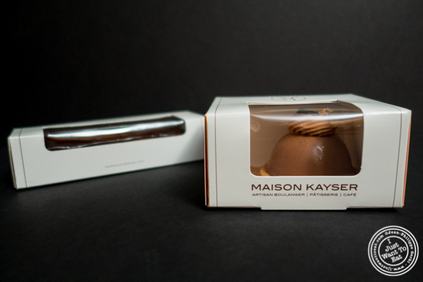 Pastry boxes at Maison Kayser in the West Village, NYC, New York