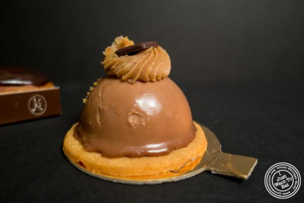 Chestnut tart at Maison Kayser in the West Village, NYC, New York