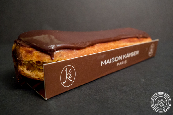 Chocolate eclair at Maison Kayser in the West Village, NYC, New York