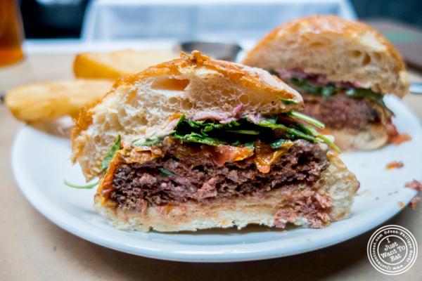 Kangaroo burger at Burke and Wills, Upper West Side, NYC, New York