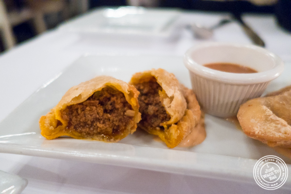 Beef empanada at Sazon in TriBeCa, NYC, New York