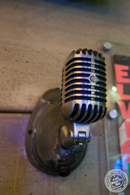 Microphone at Turntable Chicken Jazz in NYC, New York