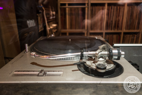 Turntable for DJ at Turntable Chicken Jazz in NYC, New York