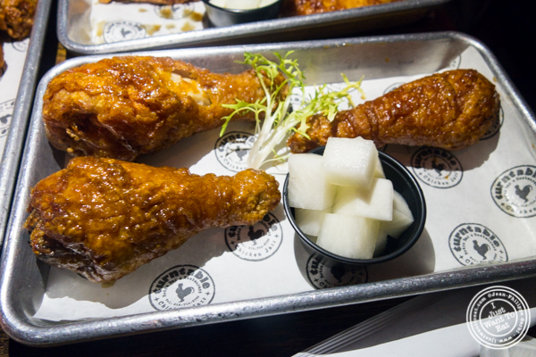Chicken thigh at Turntable Chicken Jazz in NYC, New York