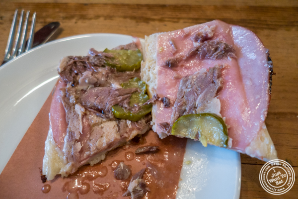 Pig head Cuban sandwich at The Cannibal in NYC, New York