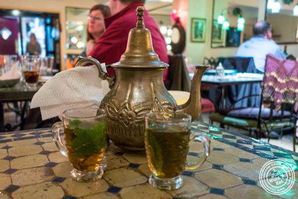 Mint tea at Salam café in Greenwich Village, NYC