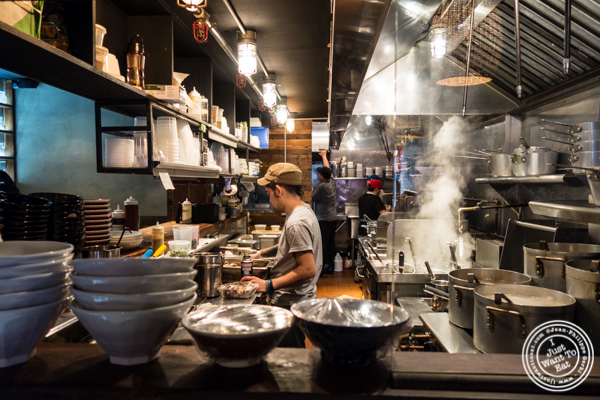 Kitchen at MeiJin Ramen in the Upper East Side, NYC