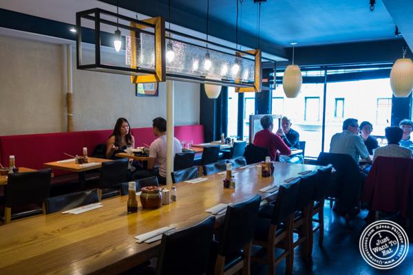 Dining room at Katsu Hama in NYC, New York