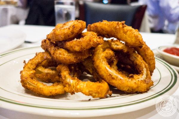 Onion rings at Rocco Steakhouse in NoMad, NYC