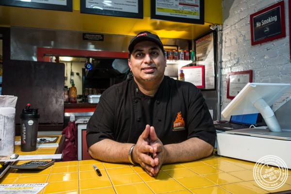 Chef Deepak Ballaney at IWF - International Wings Factory on the Upper East Side