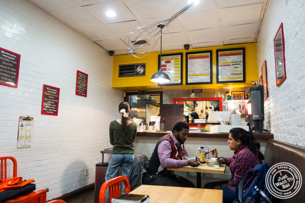 Counter and dining area at IWF - International Wings Factory on the Upper East Side