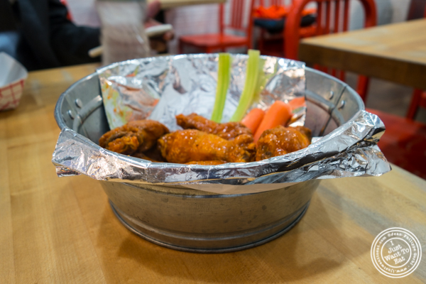 Bucket of wings at IWF - International Wings Factory on the Upper East Side