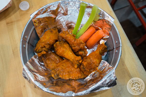 Buffalo chicken wings at IWF - International Wings Factory on the Upper East Side